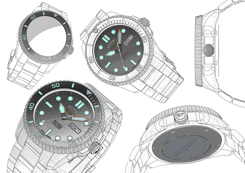 Rotary Super7 Wireframe