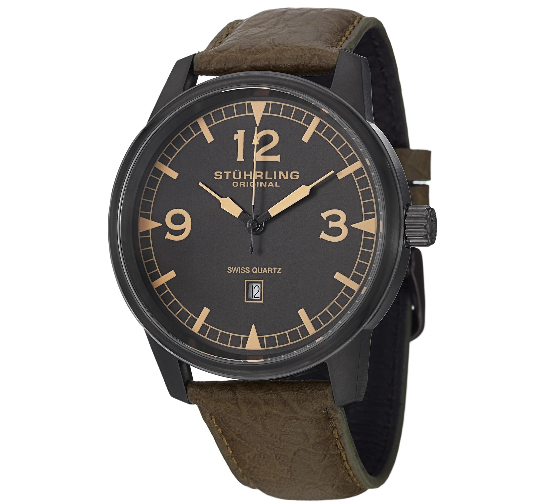 stuhrling condor black and brown s watchnation
