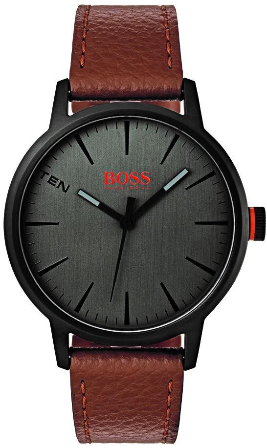 Hugo Boss Orange Copenhagen Brown Leather Strap Black Dial Men S Watch