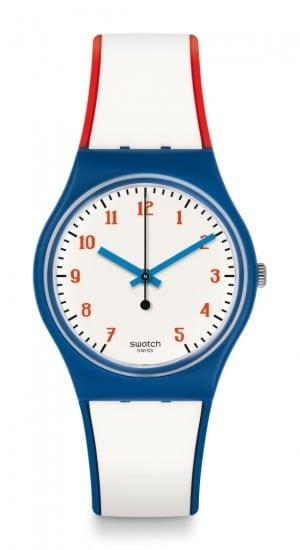 Swatch Plein Gaz Red White Navy Unisex Watch