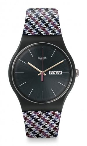 Swatch Warmth Tweed Unisex Watch SUOB725