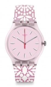 Swatch Fleurie Pink Demask Unisex Watch SUOP109