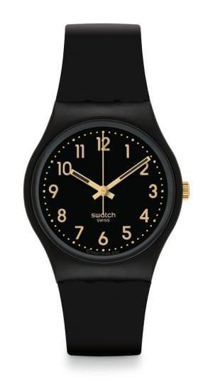 Swatch Golden Tac Matte Black Unisex Watch