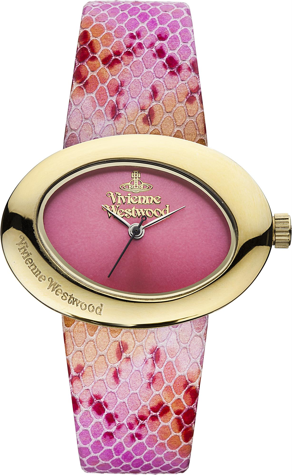 d2f39615bf ... Vivienne Westwood Ellipse II Pink Leather Strap Ladies' Watch. 🔍. show  more pictures