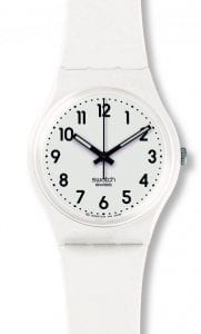 Swatch Just White Soft White Unisex Watch