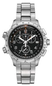 Hamilton Khaki Aviation X-Wind GMT Chronograph Men's Watch H77912135 46mm