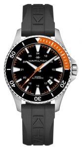 Hamilton Khaki Scuba Auto Black Silicone Strap Men's Watch H82305331