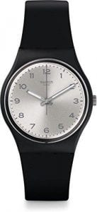 Swatch Silver Friend Too Silver Dial Matte Black Unisex Watch