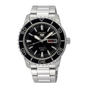 Seiko 5 Sports Automatic Stainless Steel Black Dial Men's Watch SNZH55K1