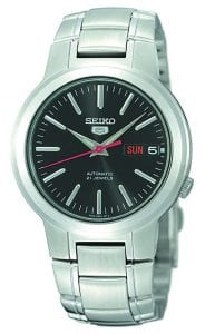 Seiko 5 Automatic Black Dial Stainless Steel Men's Watch SNKA07K1