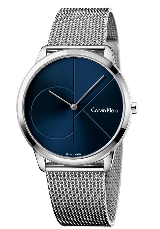 a361d0a7336 Calvin Klein Minimal Stainless Steel Blue Dial Mens Watch K3M2112N 40mm