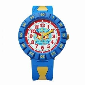 Flik Flak Cool Sailor Blue Yellow Resin Kids' Watch