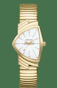 Hamilton Ventura Flex Quartz Gold Men's Watch H2430111