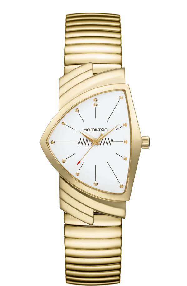 Hamilton Ventura Flex Quartz Gold Men's Watch H2430111