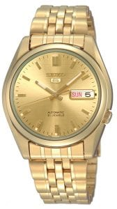 Seiko 5 Automatic Gold Men's Watch SNK366K1