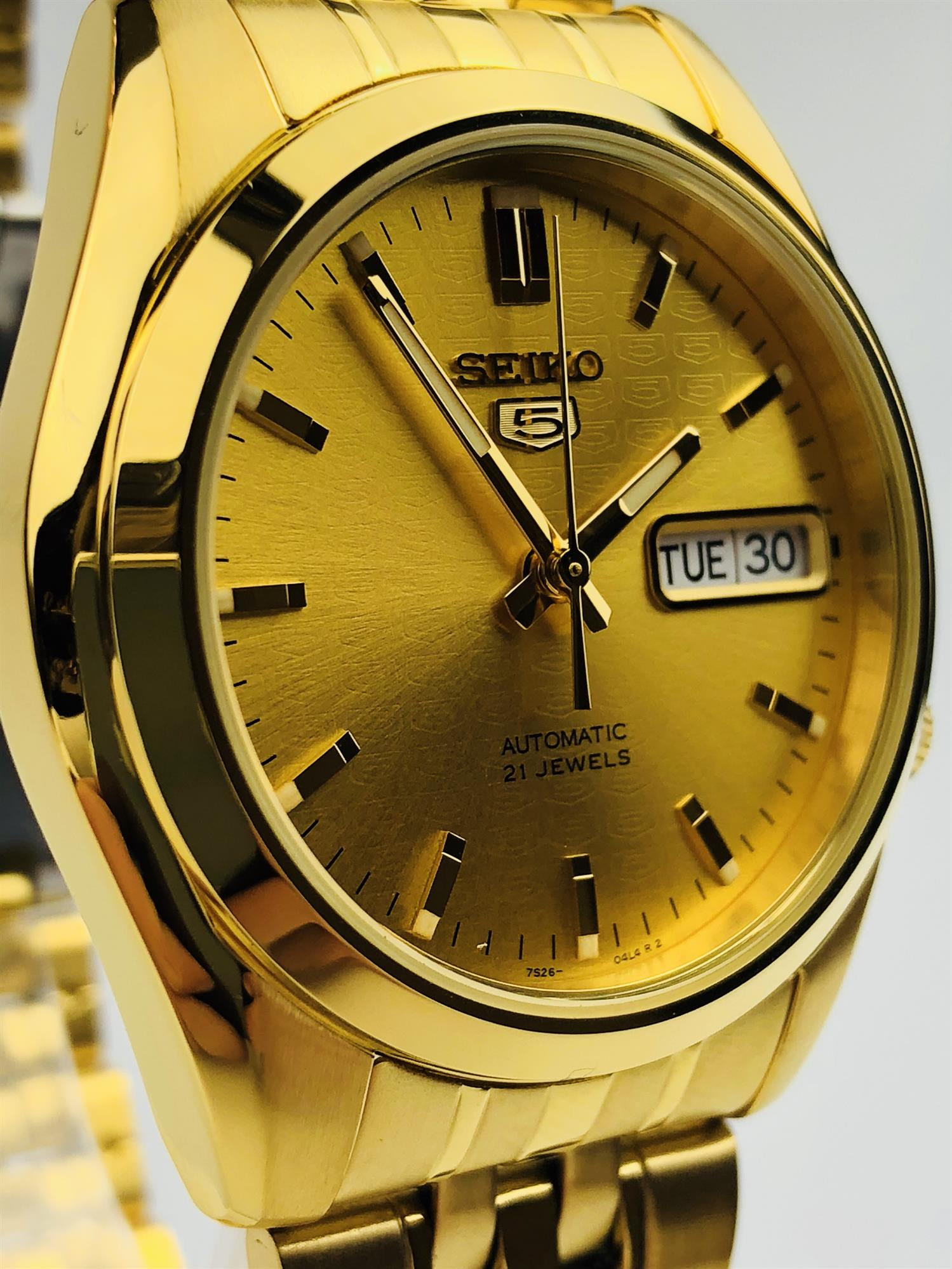 Seiko 5 Automatic Gold Mens Watch (SNK366K1)
