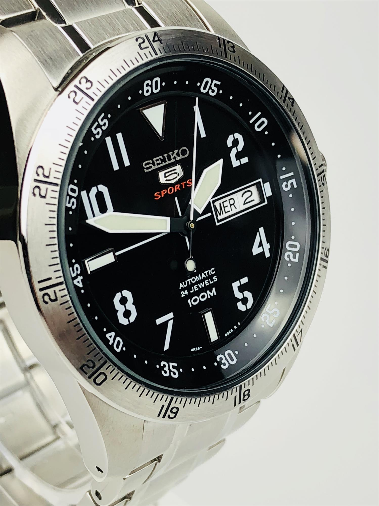 Seiko 5 Sports Explorer Automatic Stainless Steel Men S Watch Srp513k1