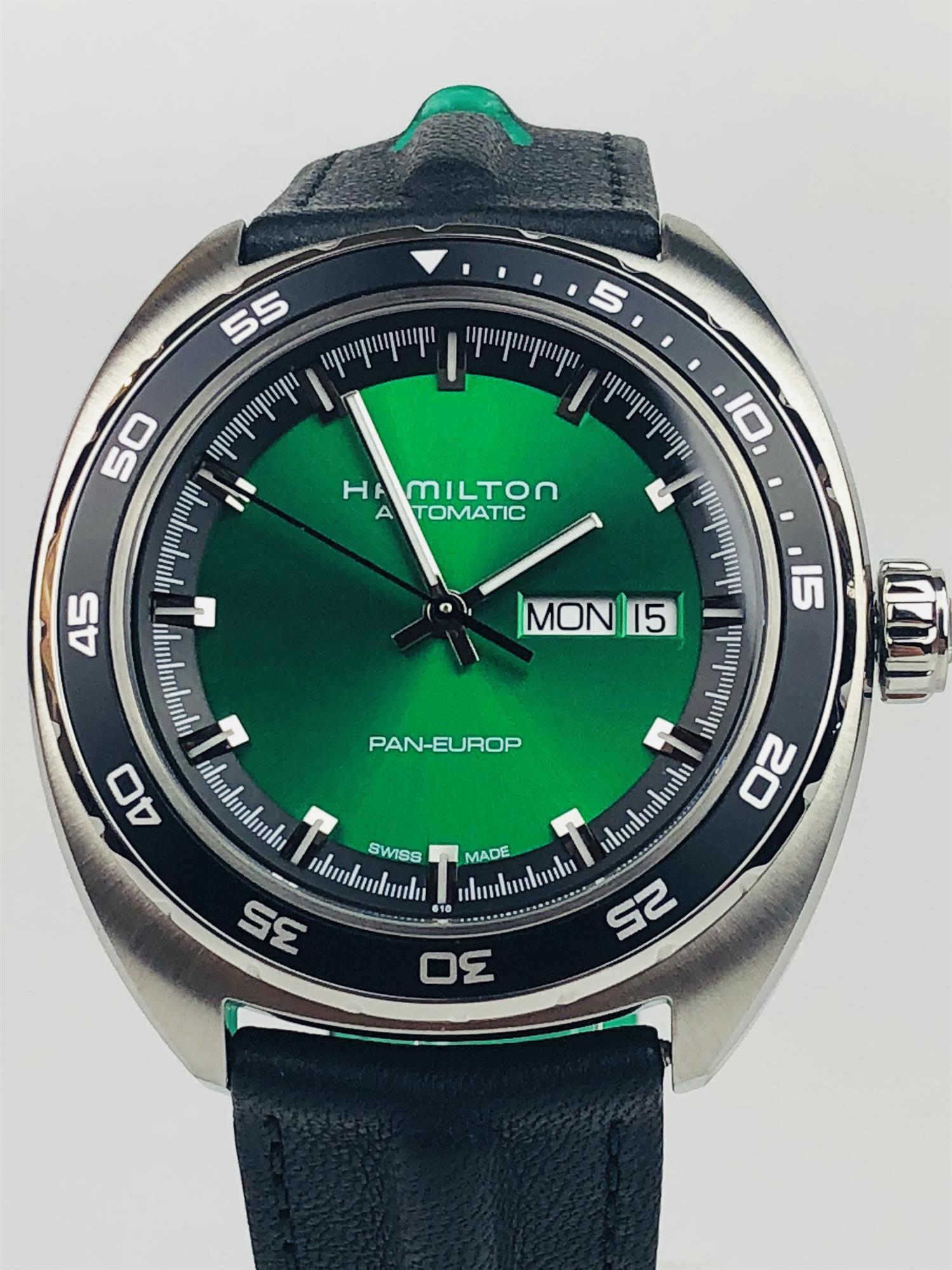 Hamilton American Classic Pan Europ Green Dial Men S Watch H35415761