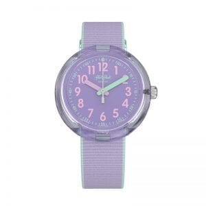 Flik Flak Color Blast Lilac Strap Kid's Watch FPNP044