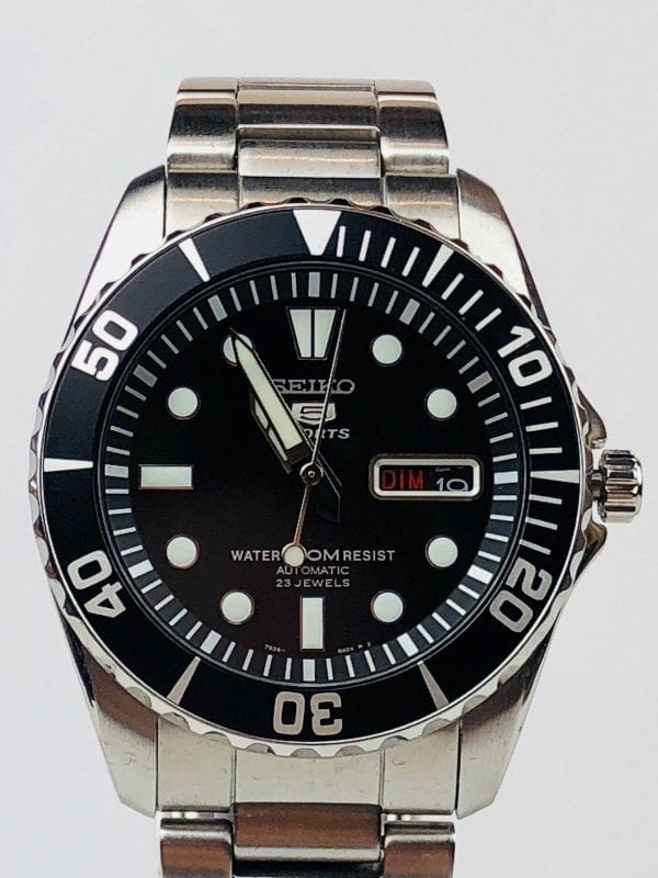 Seiko 5 Sports Automatic Stainless Steel Black Dial Men's Watch SNZF17K1