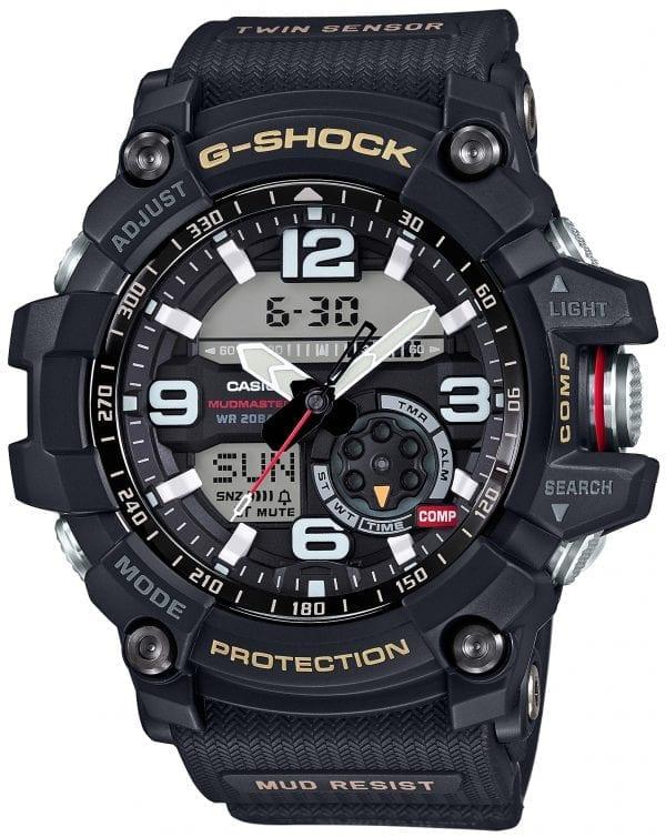 Casio Mens Premium G-Shock Mudmaster Twin Sensor Compass Alarm Chronograph WatchesGG-1000-1AER