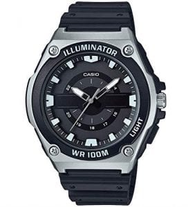 Casio Sport Black Resin Stainless Steel Mens Watch MWC-100H-1AVEF 53mm