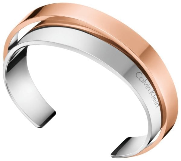 Calvin Klein Two Tone Stainless Steel Ladies Bracelet
