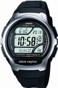 Casio Wave Ceptor Radio Controlled Chronograph Mens Watch WV-58U-1AVES 45mm