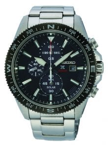Seiko Prospex Land Solar Chronograph Black Dial Mens Watch SSC705P1 44mm