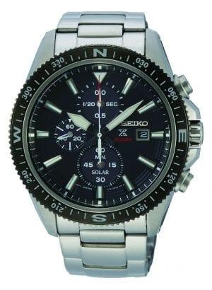 Seiko Prospex Land Solar Chronograph Black Dial Mens Watch SSC705P1 44mm