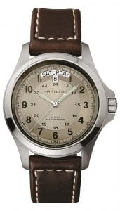 Hamilton Khaki Field King Automatic Beige Dial Mens Watch H64455523 40mm
