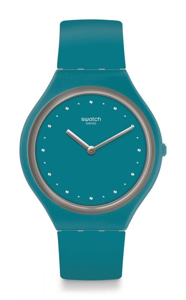 Swatch Skin Skinautique Blue Silicone Strap Ladies Watch SVOL100 36.8mm