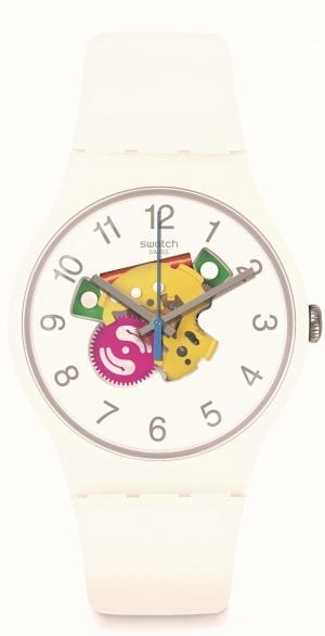 Swatch Candinette 41mm Case Openwork Dial Ladies Watch SUOW148