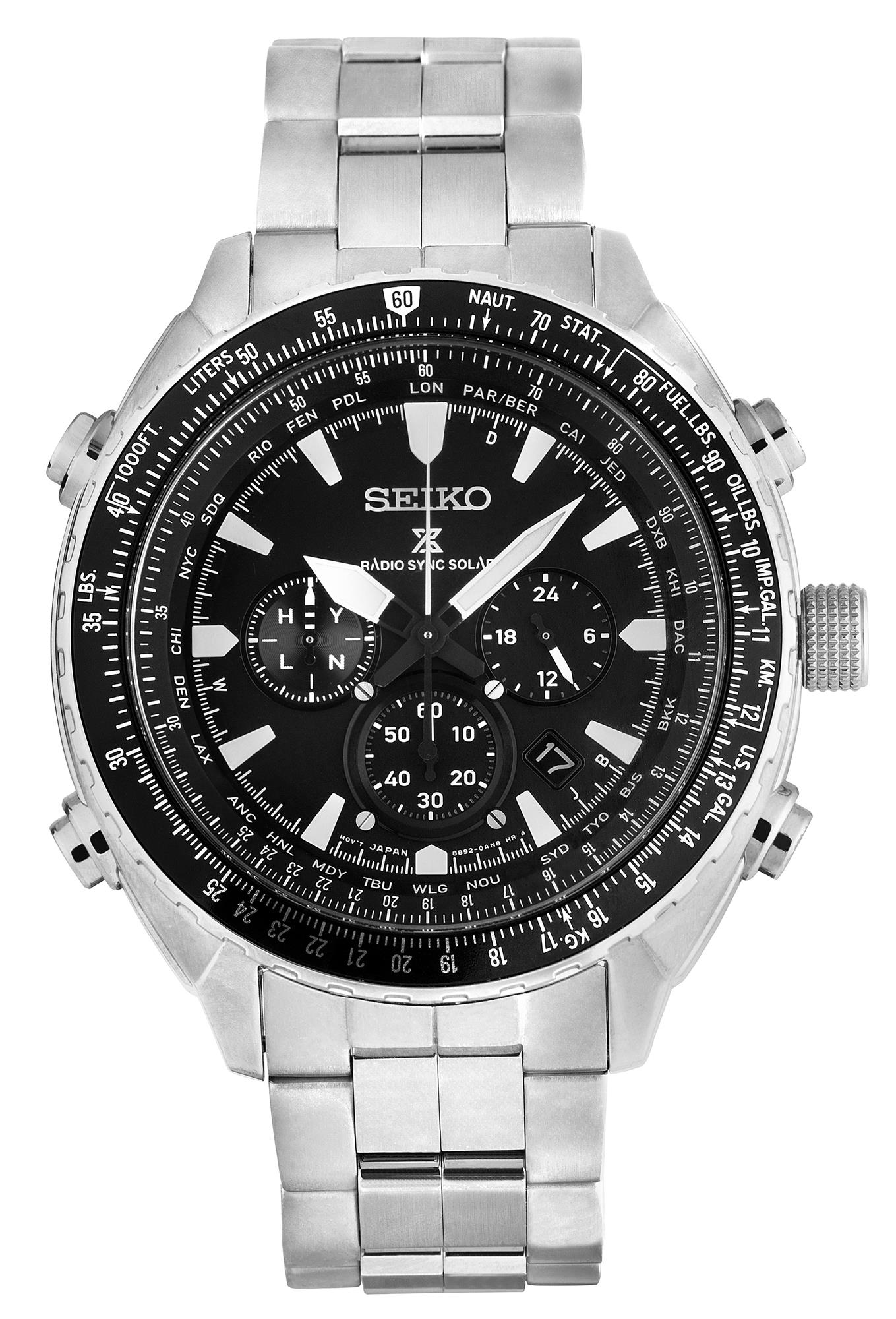 cd2f2355d ... Prospex Radio Sync Solar Chronograph Black Dial Mens Watch SSG001P1.  🔍. show more pictures