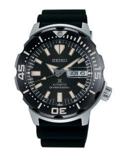 Seiko Prospex Monster Bold Bezel Diver Steel Case Black Resin Black Dial Automatic Men's Watch SRPD27K1