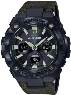 Casio G-Shock G-Steel Military Street Khaki Strap Men's Watch GST-W130BC-1A3ER
