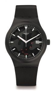 Swatch SISTEM 51 Clouds Black Camo Dial Automatic Men's Watch SUTA401 42mm