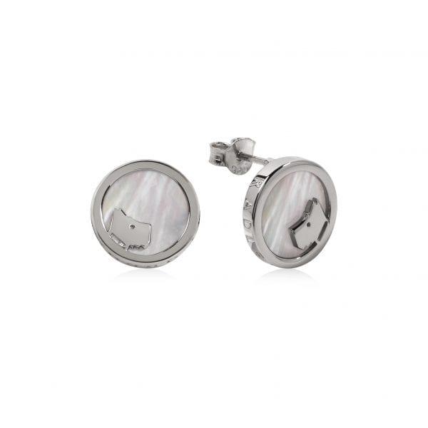 Radley Love Dog Sterling Silver MOP Stud Earrings RYJ1069