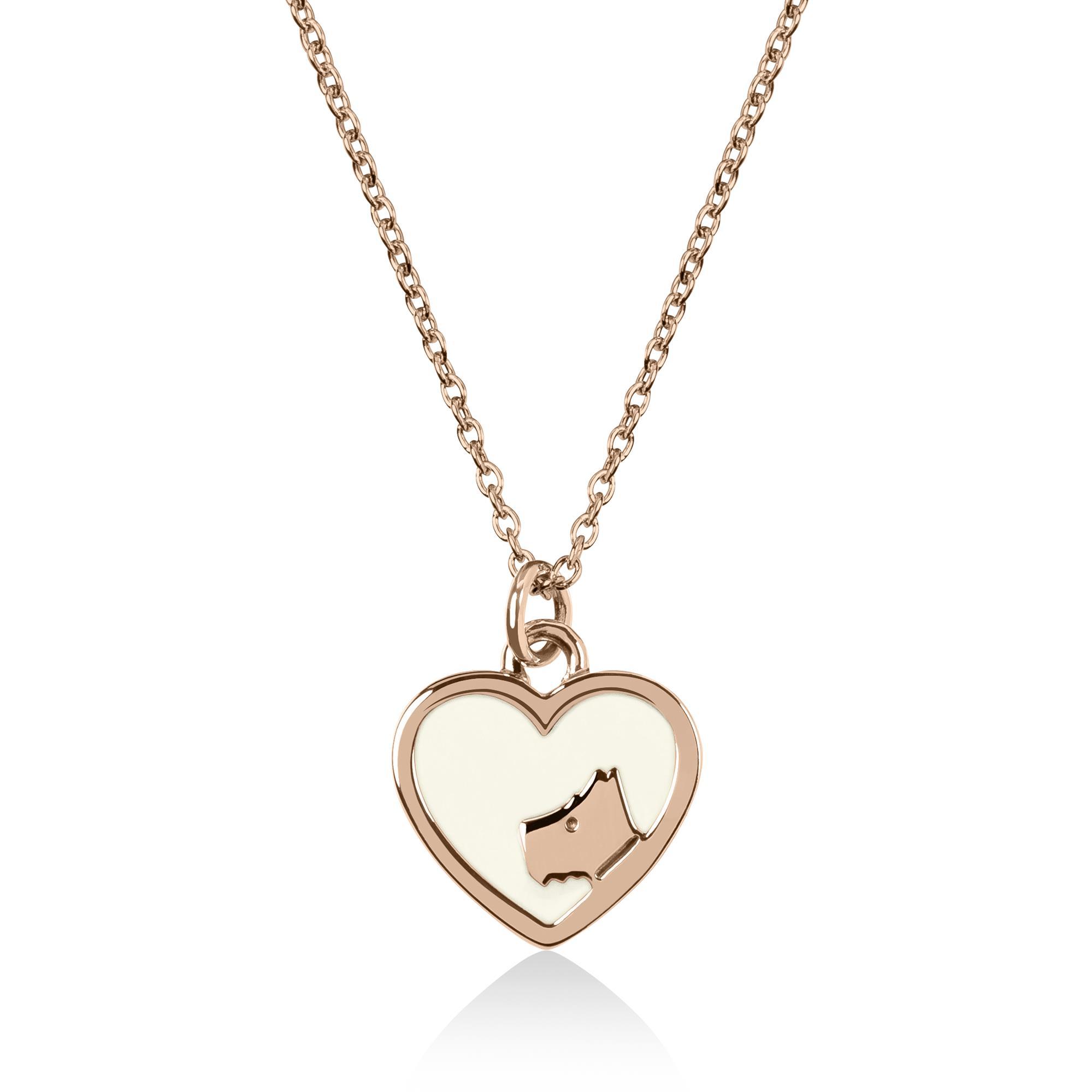 Radley Love Rose Gold Pvd Sterling Silver Dog Heart