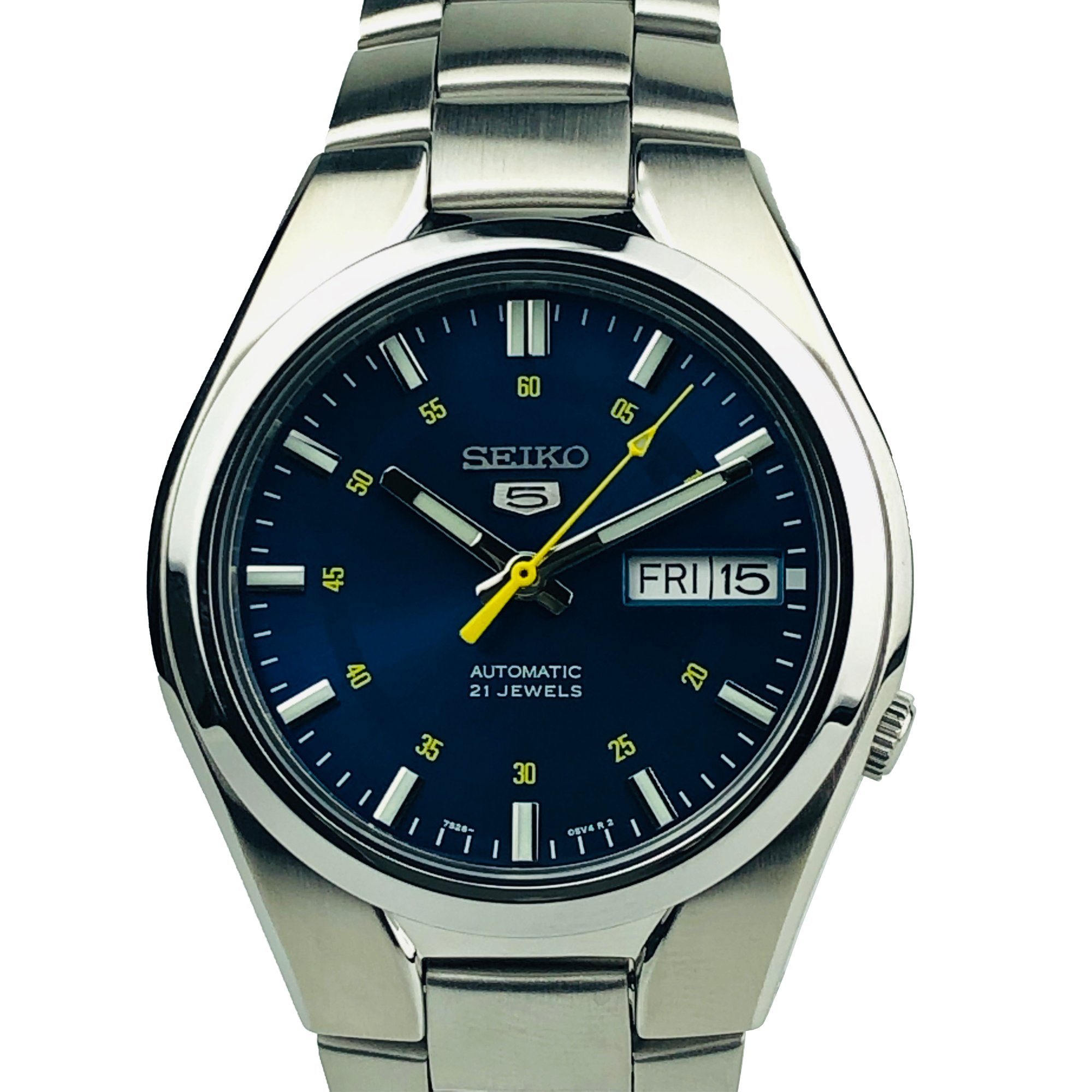lowest price 7ff1f 3a91c Seiko 5 Automatic Blue Dial Stainless Steel Men's Watch SNK615K1