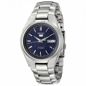 huge selection of da4a3 4701e Seiko 5 Automatic Stainless Steel Blue Dial Men's Watch ...