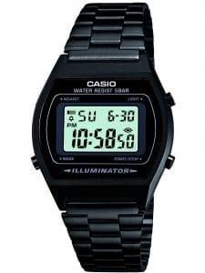 Casio Classic Black Steel Men's Alarm Chronograph B640WB-1AEF