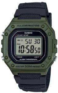 Casio Collection Green Black Men's Watch W-218H-3AVEF