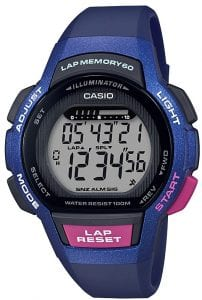 Casio Collection Digital Blue Purple Ladies Watch LWS-1000H-2AVEF 37mm