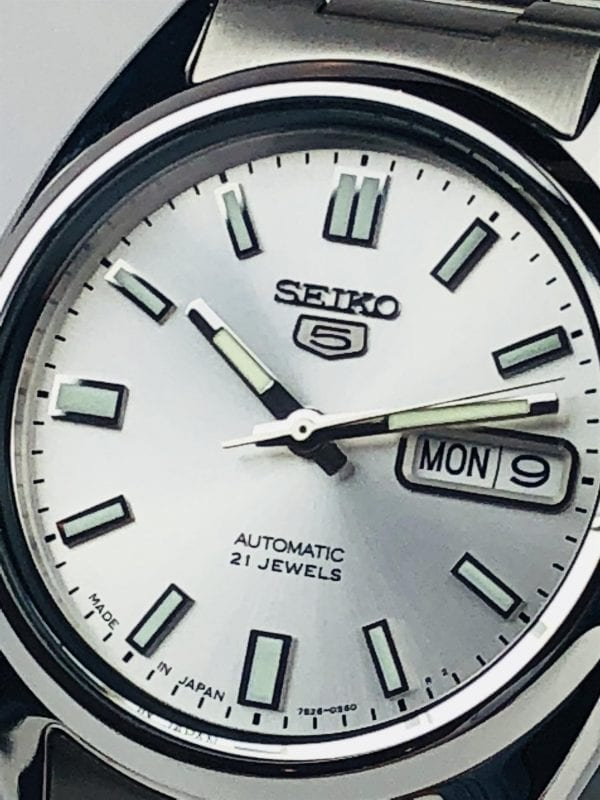 Seiko 5 Automatic Stainless Steel Silver Dial Men's Watch SNXS73K