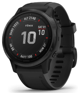Garmin Fenix 6S Black Silicone Strap Quartz Men's Smartwatch 010-02159-14
