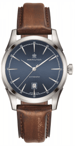 Hamilton American Classic Spirit of Liberty Automatic Stainless Steel Blue Dial Brown Leather Strap Men's Watch