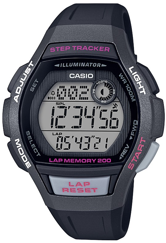 Casio Classic Collection Sports Black Resin Ladies Watch LWS-2000H-1AVEF 38mm