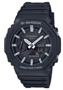 Casio G-Shock Octagon Black Carbon Core Guard Alarm Men's Watch GA-2100-1AER