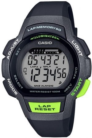 Casio Collection Digital Black Green Ladies Watch LWS-1000H-1AVEF 47mm